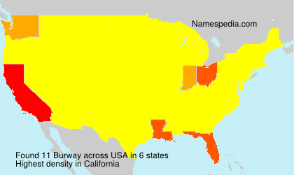 Surname Burway in USA
