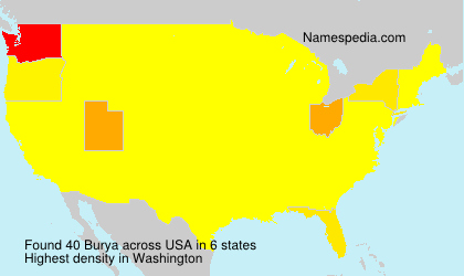 Surname Burya in USA