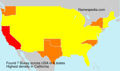 Surname Busay in USA