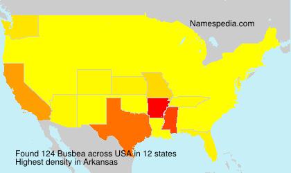 Familiennamen Busbea - USA