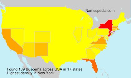 Familiennamen Buscema - USA