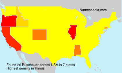 Surname Buschauer in USA