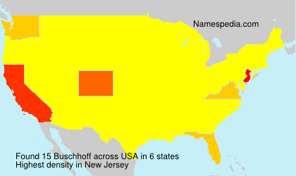 Surname Buschhoff in USA