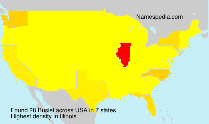 Surname Busiel in USA