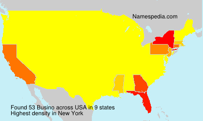 Surname Busino in USA