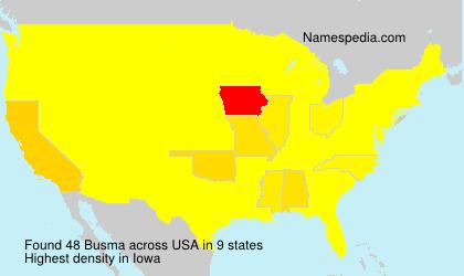 Familiennamen Busma - USA