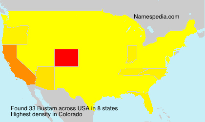 Surname Bustam in USA