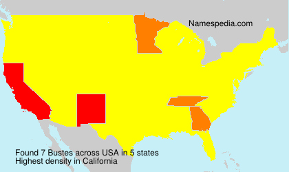 Surname Bustes in USA