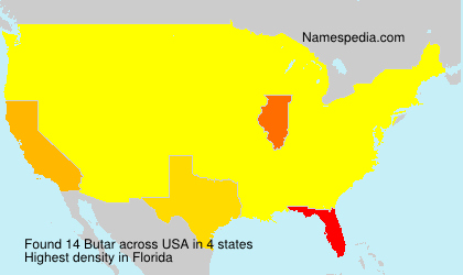 Surname Butar in USA