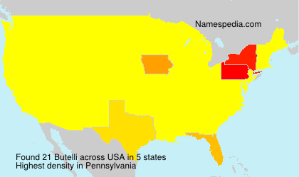 Surname Butelli in USA