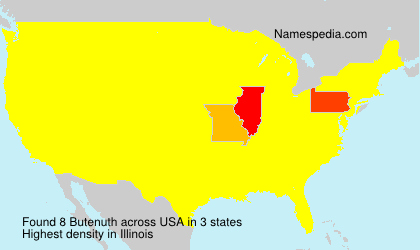 Familiennamen Butenuth - USA