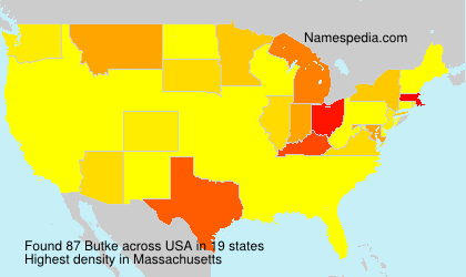 Surname Butke in USA