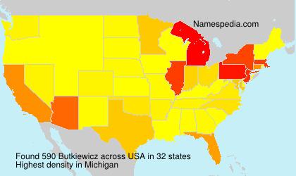 Surname Butkiewicz in USA