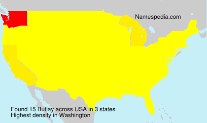 Familiennamen Butlay - USA