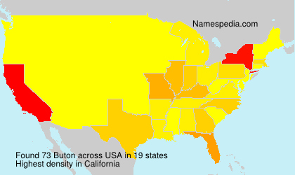 Surname Buton in USA