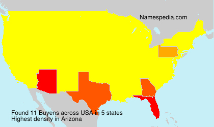 Surname Buyens in USA