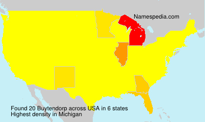Surname Buytendorp in USA