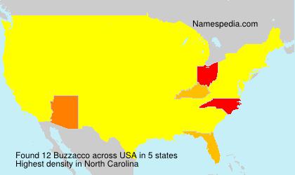 Surname Buzzacco in USA