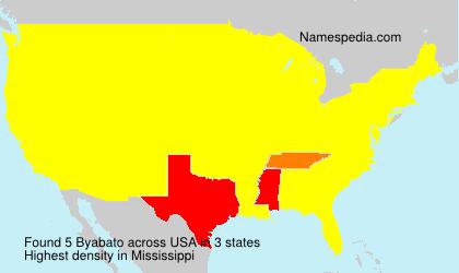 Surname Byabato in USA