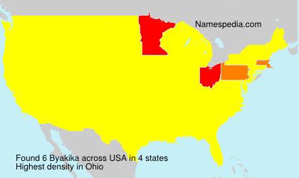 Surname Byakika in USA