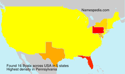 Surname Byala in USA