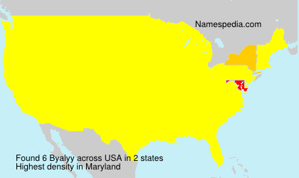 Surname Byalyy in USA
