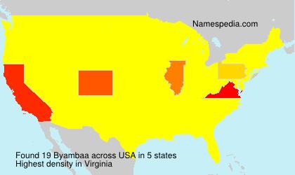 Surname Byambaa in USA