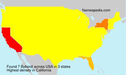 Surname Bybordi in USA