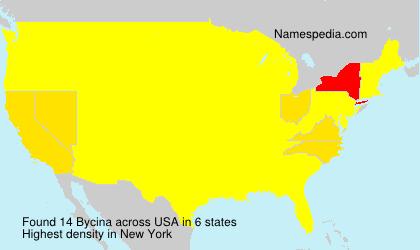 Surname Bycina in USA