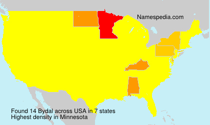 Surname Bydal in USA