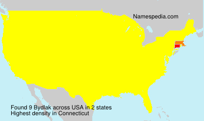 Surname Bydlak in USA