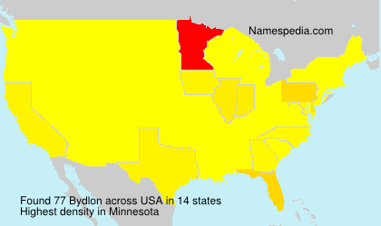 Surname Bydlon in USA