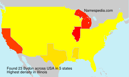 Surname Bydon in USA