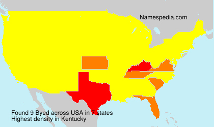 Surname Byed in USA