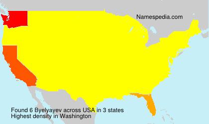 Familiennamen Byelyayev - USA