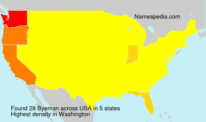 Surname Byeman in USA