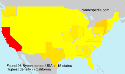 Surname Byeon in USA
