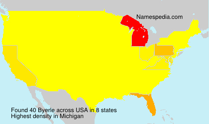 Surname Byerle in USA