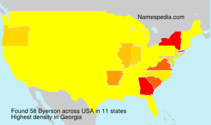 Surname Byerson in USA