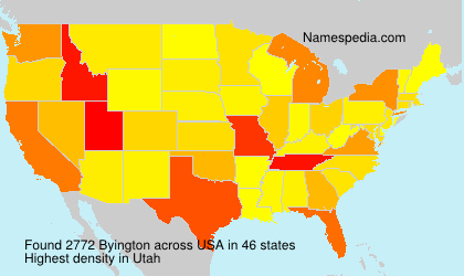 Surname Byington in USA
