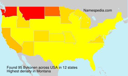 Surname Bykonen in USA