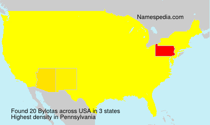 Surname Bylotas in USA