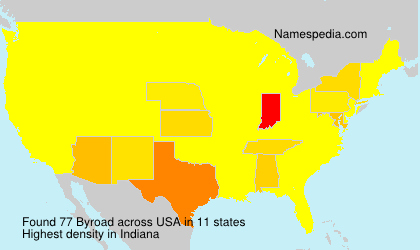 Surname Byroad in USA