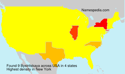 Surname Bystritskaya in USA