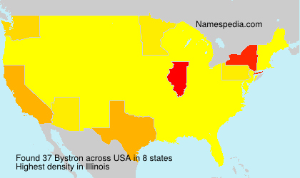 Surname Bystron in USA