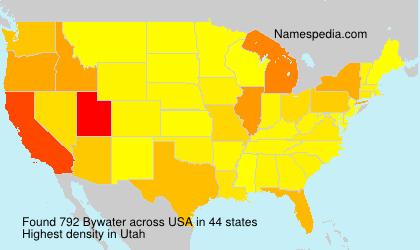 Surname Bywater in USA