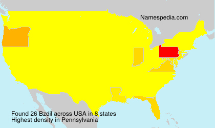 Surname Bzdil in USA