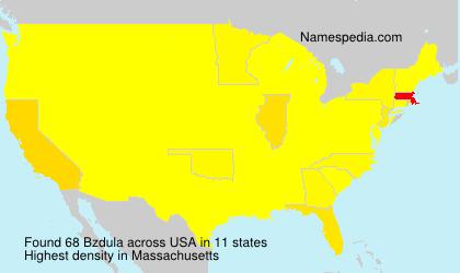 Surname Bzdula in USA