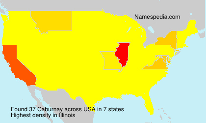 Surname Caburnay in USA