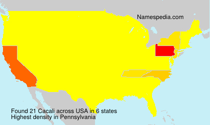 Surname Cacali in USA